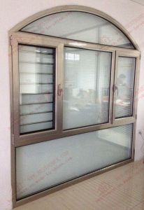 Lowe E Glass Aluminium Arch Casement Window (BHA-CWA32) pictures & photos