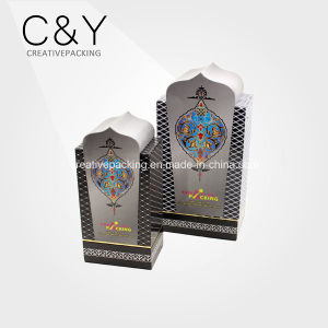 Custom Flocking Arabic Paper Perfume Bottle Packaging Box pictures & photos