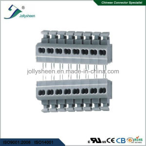 PCB Spring Terminal Blocks Straight Type with Grey Housing pictures & photos