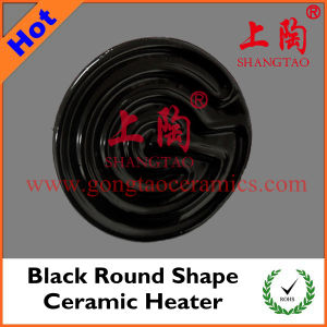 Black Round Shape Ceramic Heater pictures & photos