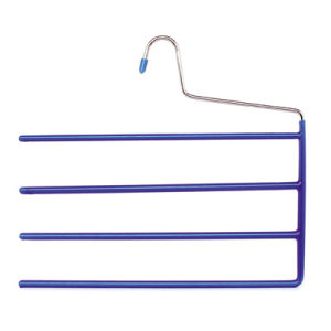 Four Layers Open End Trousers Hanger Space Saving Pants Hangers for Jeans pictures & photos