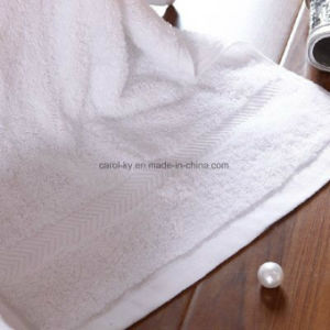 Cotton Hotel Towel with Dobby Border pictures & photos