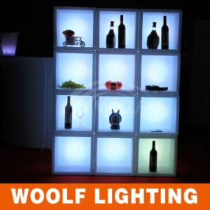 3D Colors Battery Operated LED Modern Wine Display Cabinet pictures & photos