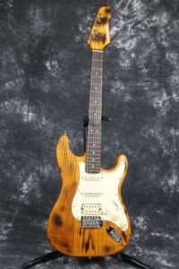 Transparent Yellow Ash Wood Body Burning Finish AlNiCo Pickups St Guitar Guitarra pictures & photos