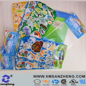 Custom Clear Glossy Full Color Sticky Water Resistant Kids Cartoon Paper Stickers pictures & photos