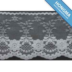 Nylon Crochet Non Elastic Tricot Lace (1608-0009) pictures & photos