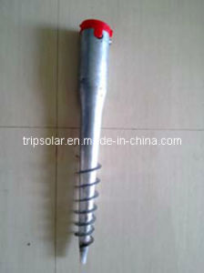Q235 Hot Dipped Galvanized Ground Screw Anchor for Solar Mounting