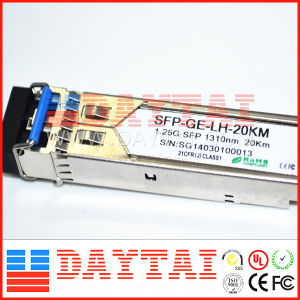 1310nm Sm LC Df 20km 1.25g SFP Module pictures & photos