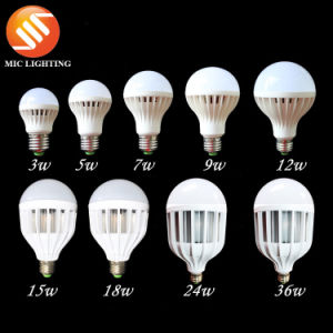 3W/5W/7W/9W/12W/15W/18W/24W/36W Plastic LED Bulb Light Lamp