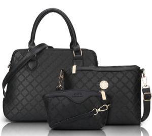 Latest Ladies 2PCS in 1 Set Cheap Price Tote Lady Handbag, 2016 Autumn PU Leather Bag Plus Wallet pictures & photos