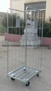 Europe Market U Shaped Roll Pallet/Storage Shelf Cage (Galvanized) pictures & photos