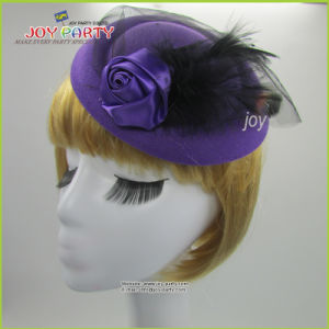 Purple Feather Lady Hair Accessories
