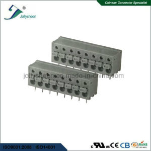 PCB Spring Terminal Block Connector 180deg with Grey Housing pictures & photos