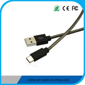 Type-C to USB 2.0am Cable with Metal Spring Body pictures & photos