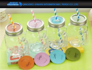 Gift Ideas Personalised Glass Mason Jar with Handle pictures & photos