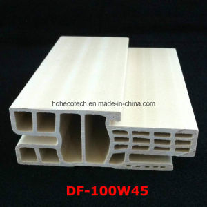 Df-100W45 Strong and Popular E Style WPC Door Frame WPC Door Architrave PVC Foamed Door Jamb Df-100W45 pictures & photos