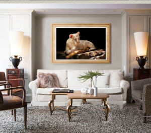 Wholesale High Quality Decoration Oil Painting, Home Decoration Painting, Art Painting (Lions) pictures & photos