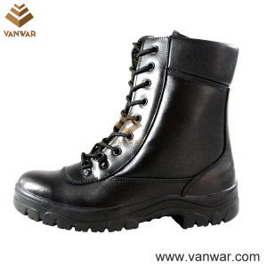 Black Athletic Military Combat Boots with Padded Collar (WCB033) pictures & photos