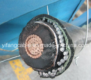 22kv Cu/XLPE/Aluminum Alloy Wire Armoured/HDPE S/C 300mm2 pictures & photos