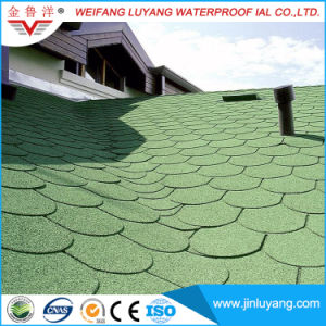 Low Price Fish Scale Colorful Asphalt Shingle with Mineral Grain