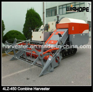 Feeding Capacity 4.5kg/S Crawler Rice Combine Harvester for Rice Wheat pictures & photos