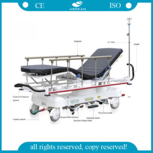 AG-HS001 with Ce and ISO Four Function Hospital Wheelchair Stretcher pictures & photos
