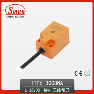 Inductive Proximity Switch 6-36VDC Sensor Three-Wires DC PNP No with 8mm Detection Disatance (ITF6-3008NA) pictures & photos
