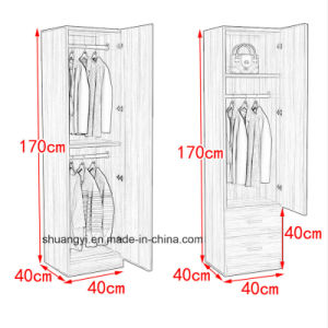 Chinese Manufacturer Bedroom Furniture Small One Door Wardrobe pictures & photos
