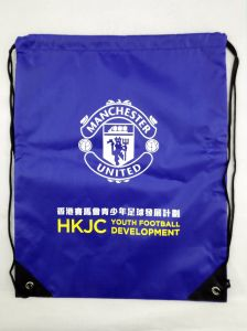 190t 210d Polyester Nylon Cheap Sport Backpack Drawstring Bag pictures & photos