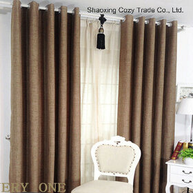 Faux Linen High Quality Ready Made Curtain pictures & photos