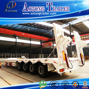 4 Axles 100ton Low Bed Trailer Made in China pictures & photos