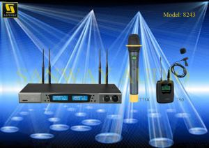 UHF Wireless Microphone Professional No. 8243 pictures & photos