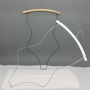 Wire White Wooden Body Swimwear Hanger pictures & photos