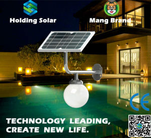 All in One Monocrystal Solar Panel LED Light for Garden pictures & photos