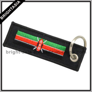Fashion Embroideried Key Chain for Promotion Gift with Country Flags (BYH-10870) pictures & photos