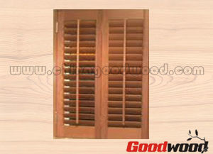 Shaped Decorative Wood /PVC Window Shutter (GW-y002)