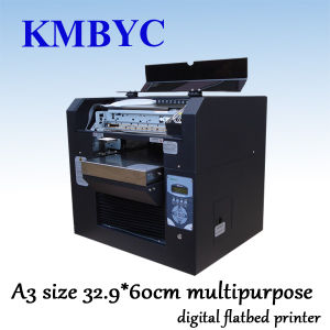 A3 Size High Speed Eco Solvent Multipurpose Digital Flatbed Printer pictures & photos