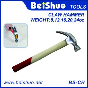8~24oz Wooden Handle Carbon Steel Claw Hammer pictures & photos