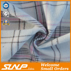 Yarn Dyed Twill Cotton Flannel Shirting Fabric