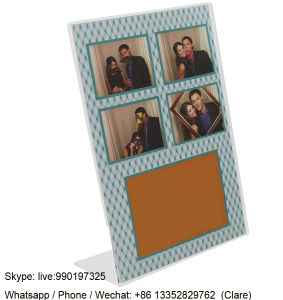 Home Decoration Clear Acrylic Vertical Photo Display Frames pictures & photos