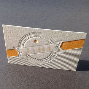 Special Strong Silver Card Paper Hang Tag with Debossing pictures & photos