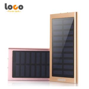Metal Thin Polymer Solar Power Bank with LED Light pictures & photos