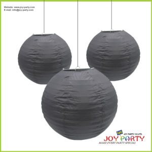 Black Paper Lantern for Halloween Decoration
