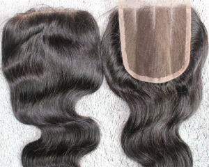 Wholesale Three Part Hair Closure 100% Remy Human Hair Lace Closure pictures & photos