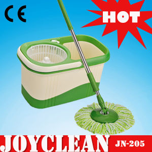 Joyclean Double Drive Pedal Free Plastic Basket Rotation Magic Mop (JN-205) pictures & photos