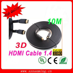 High Speed 10m Premium 3D HDMI Cable V1.4 pictures & photos
