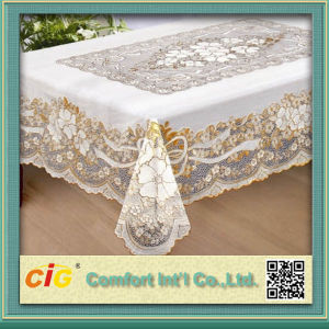 PVC Lace Tablecloth pictures & photos