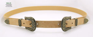 Women′s Western Fashion Belt with Two Buckles Ky6281 pictures & photos