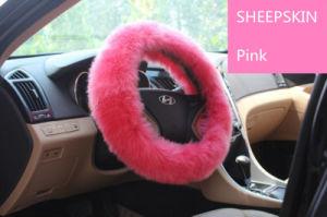 Universal Matching Sheepskin Car Steering Wheel Cover Long Wool pictures & photos