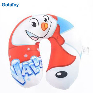 High Quality Custom Stuffed Soft U-Shape Neck Pillow with Foam Beads pictures & photos